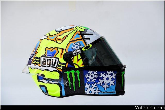 motogp les photos du casque de valentino rossi mototribu. Black Bedroom Furniture Sets. Home Design Ideas