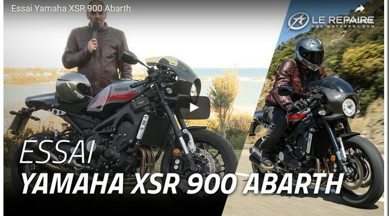 yamaha xsr 900 abarth 2017 l essai vid o du repaire des motards mototribu. Black Bedroom Furniture Sets. Home Design Ideas